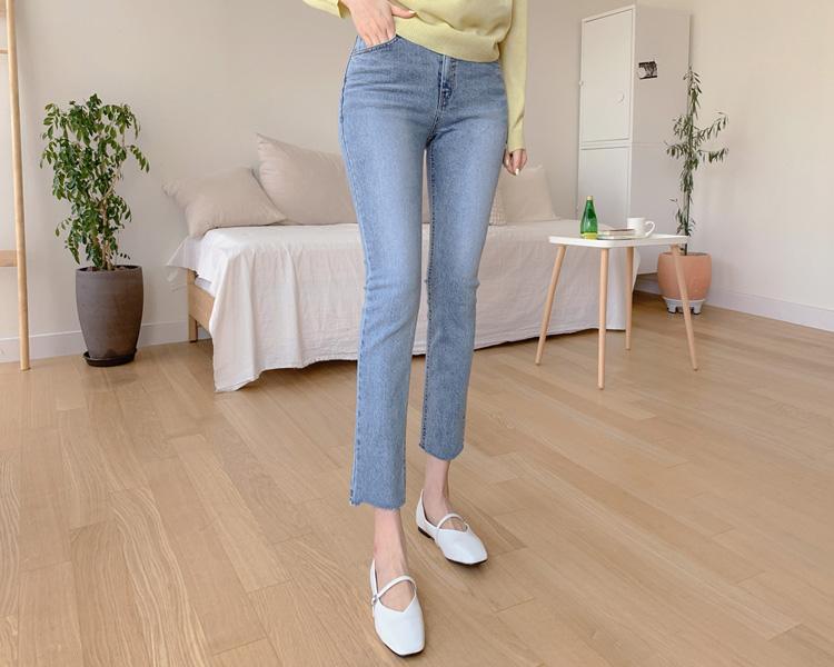tomnrabbit-[더블일자데님]♡韓國女裝褲
