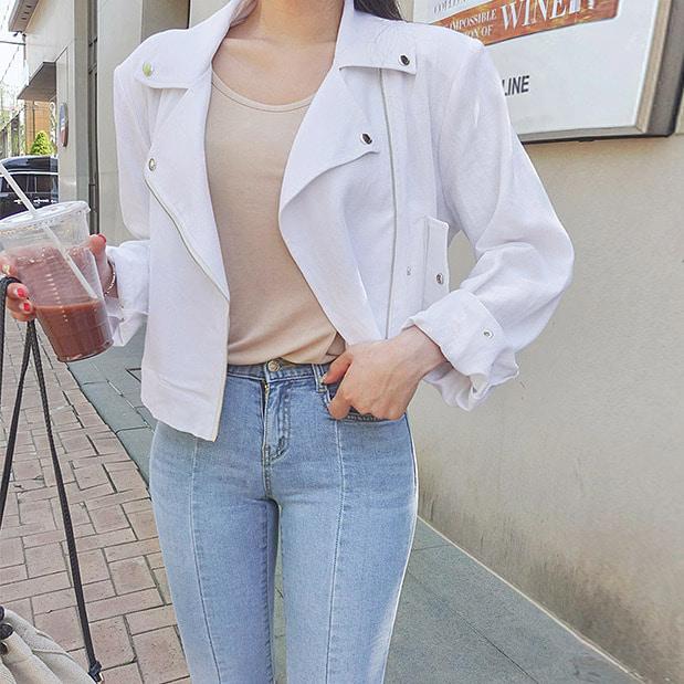 lookgirl-어반드 린넨라이더자켓, jk(*new5%)♡韓國女裝外套