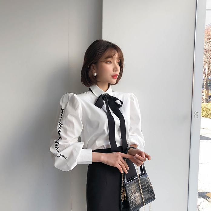 dabagirl-벨라레터링셔츠♡韓國女裝上衣