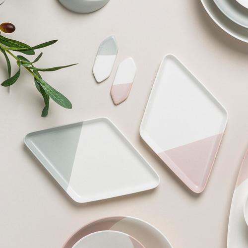 ssueim-하프문 마름모접시 (2color)♡韓國家品碟具