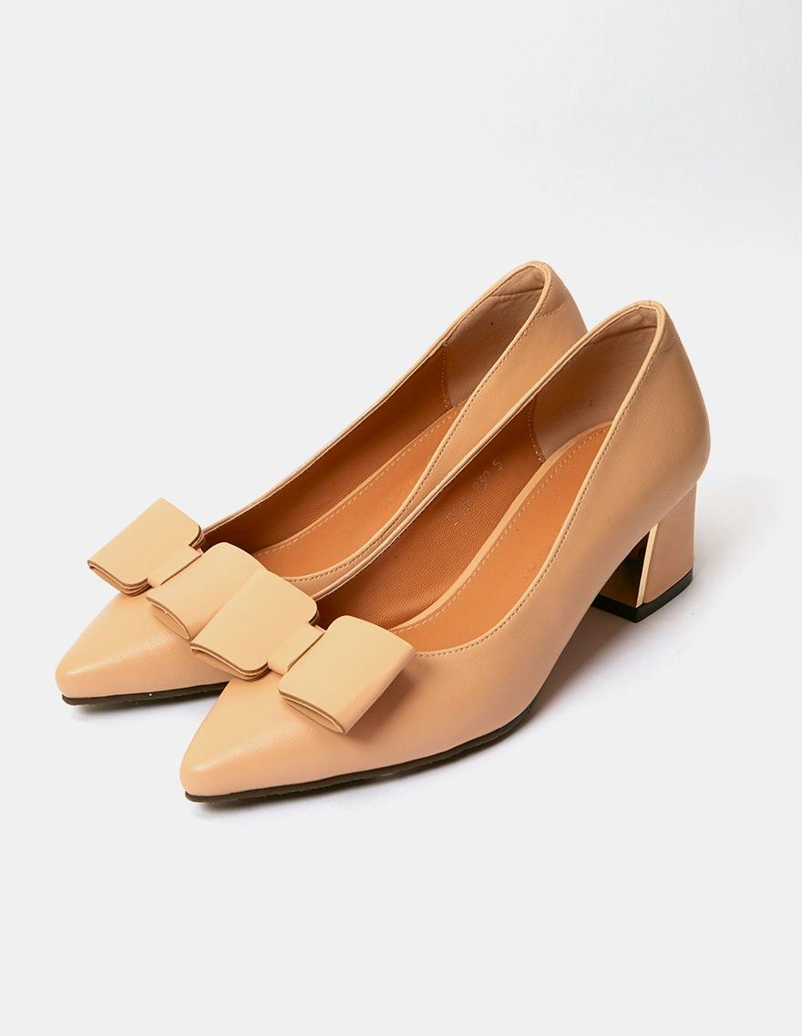 dalihotel-로맨틱 감성 오피스룩 달리호텔 - 상품명 : Ribbon Pointed toe Heel♡韓國女裝鞋