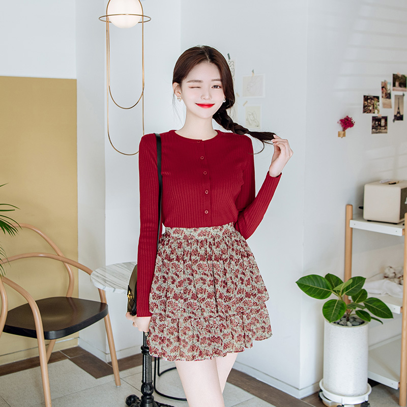 attrangs-cd1292 라이트한 소재감으로 산뜻하게 착용하기 좋은 슬림핏 골지 니트 가디건 cardigan♡韓國女裝上衣