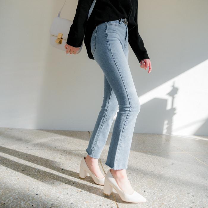 09women-[가밀 히든밴딩 부츠컷 데님 팬츠 47981]♡韓國女裝褲