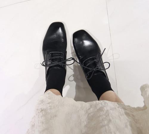 平頭綁帶牛津鞋