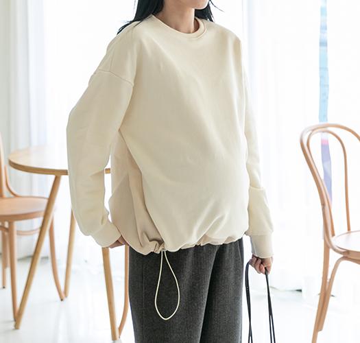 soim-[임부복*스트링 쭈리맨투맨]♡韓國孕婦裝上衣