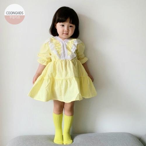 cooingkids-C라임원피스 아기원피스 유아원피스 예쁜 여자 아기옷♡韓國童裝連身裙