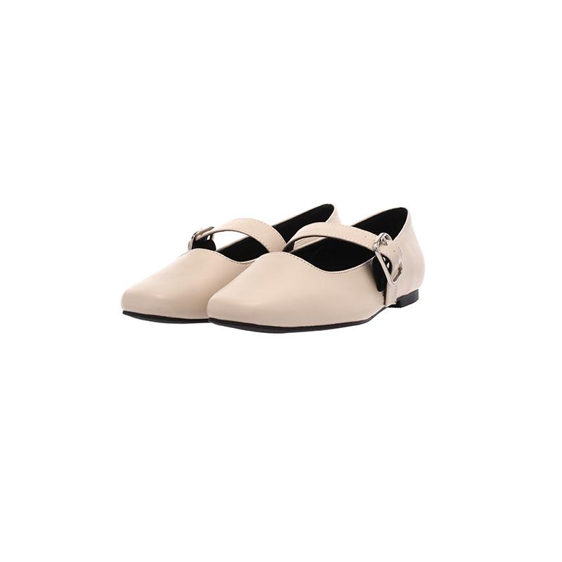 attrangs-sh1100 메리제인 벨티드 스퀘어 앞코 플랫슈즈 shoes♡韓國女裝鞋