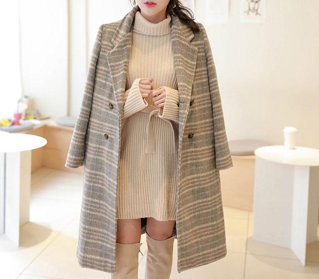 myfiona-그래이포근함*coat/m9616♡韓國女裝外套