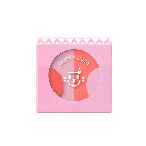 Chica Y Chico 원터치 뺨뺨 듀오 블러셔 5g 02號♡韓國胭脂