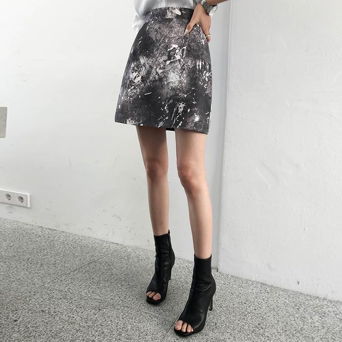 dabagirl-르뎅페인팅스커트♡韓國女裝裙