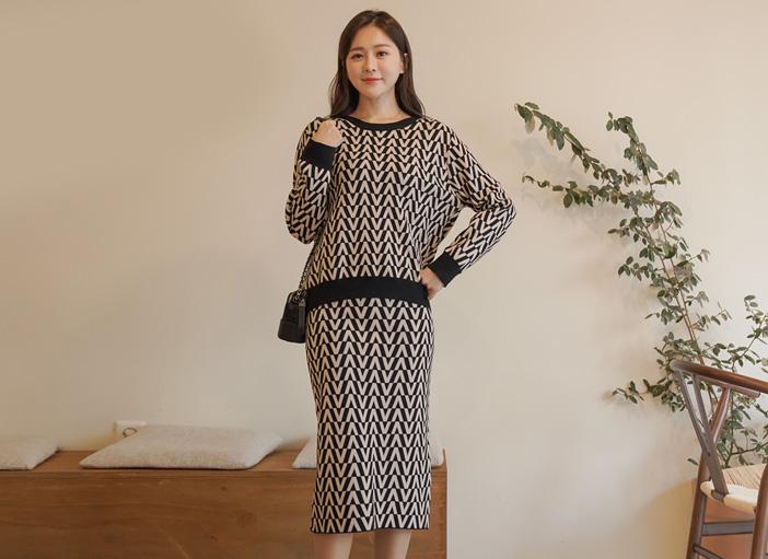 clicknfunny-[피엔나 니트투피스]♡韓國女裝套裝