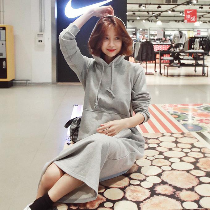 wingsmall-멜콩(프리티후드롱OPS)♡韓國女裝連身裙