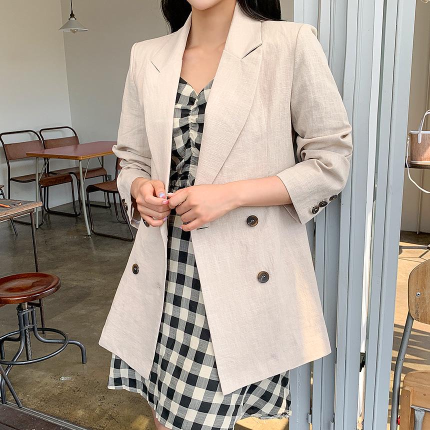 envylook-프렌드린넨자켓♡韓國女裝外套