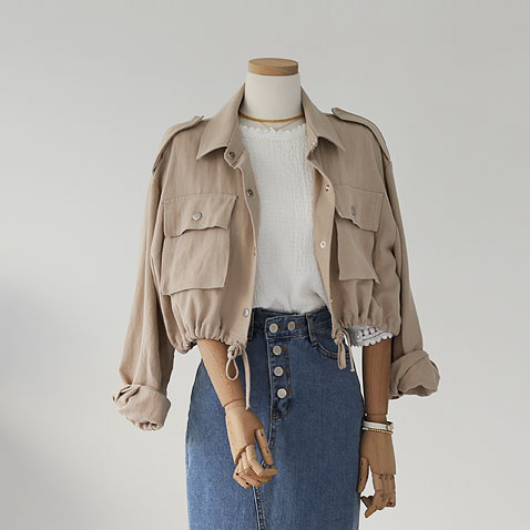 jooen-OT1998/Pocket Short, Jk(55~통통66)♡韓國女裝外套