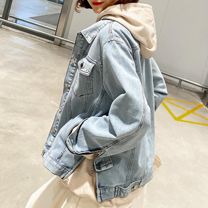 wingsmall-느낌있어(와이드소매지퍼청JK)♡韓國女裝外套