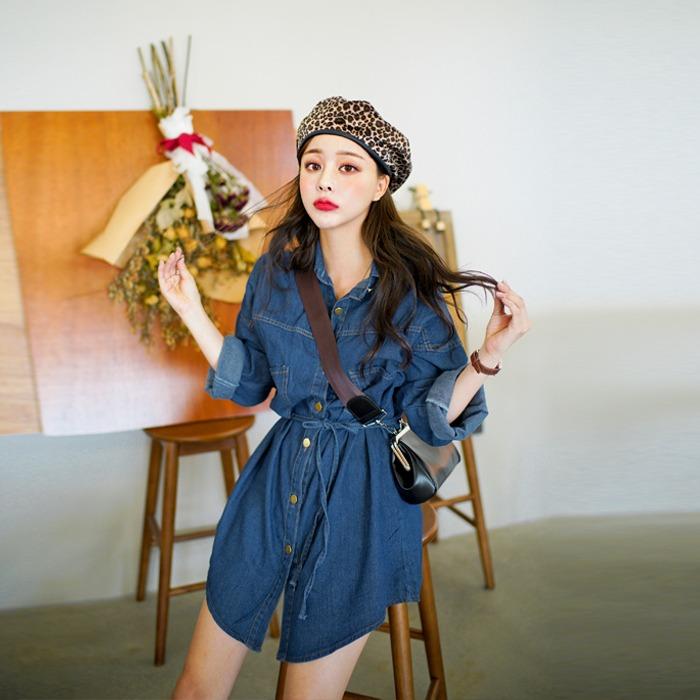 deepny-빙봉데님롱 원피스 디프니♡韓國女裝連身裙