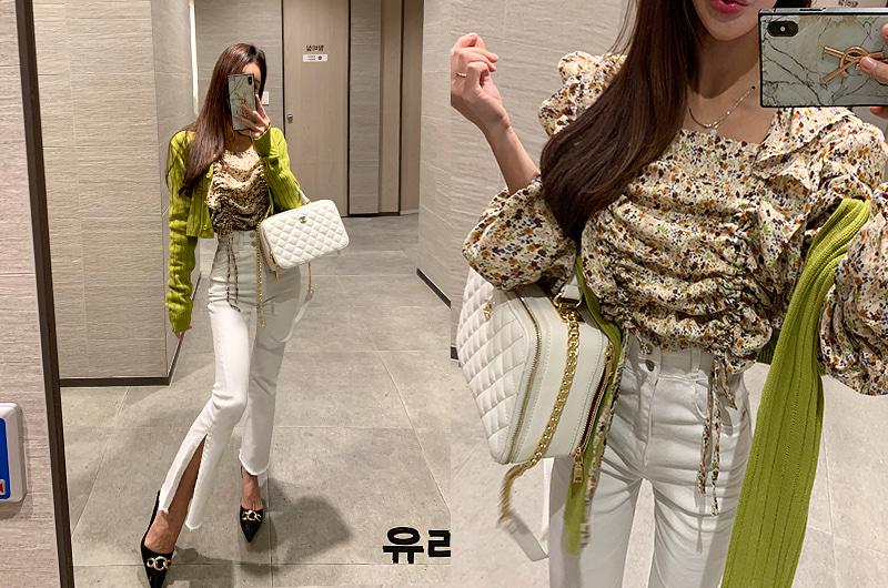 torishop-더블스트링 플라워BL (2color)♡韓國女裝上衣