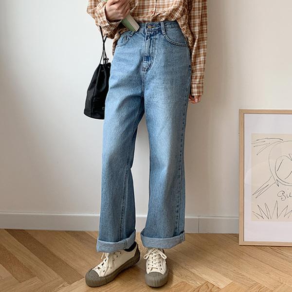 66girls-[M] 하이워싱롱데님P♡韓國女裝褲