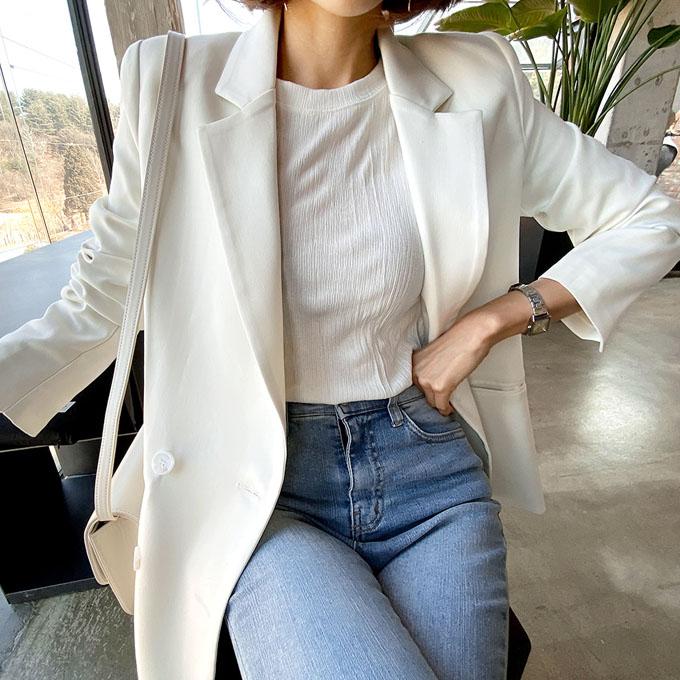 wingsmall-럭키데이즈(벤트더블슬림핏JK)♡韓國女裝外套