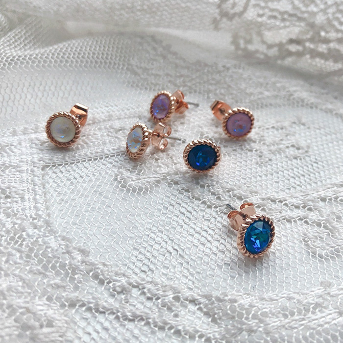 夢幻寶石耳環