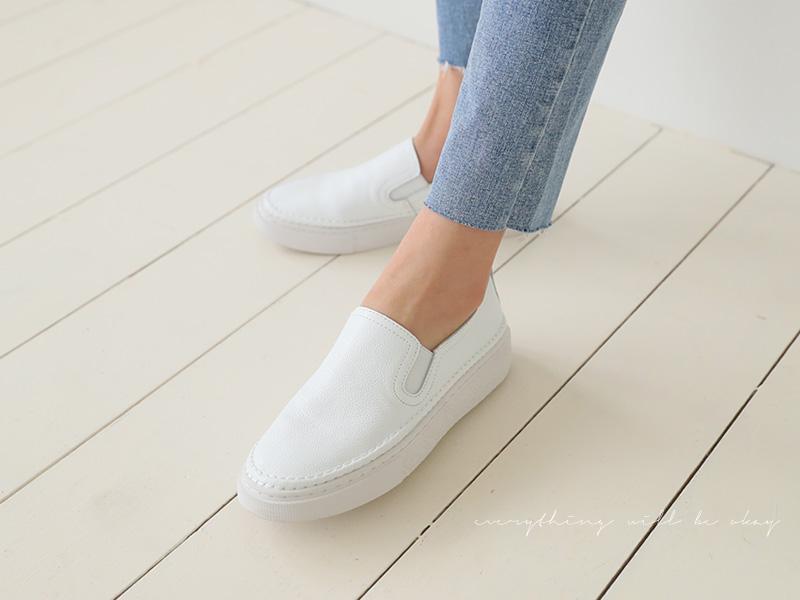 roompacker-룸페커 [멜린 키높이 가죽슬립온]♡韓國女裝鞋