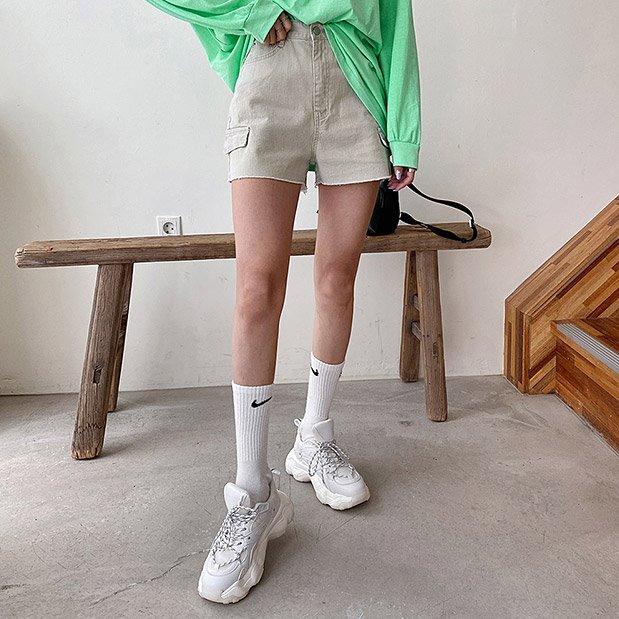 lookgirl-카치온 코튼숏팬츠, pt(*new10%)♡韓國女裝褲