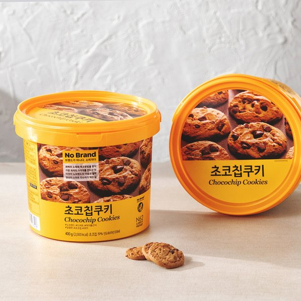 韓國 No Brand Chocolate Chips Cookies 朱古力曲奇 400g