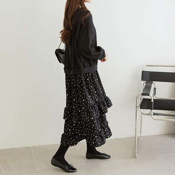 canmart-[도트프릴기모원피스 C122441]♡韓國女裝連身裙
