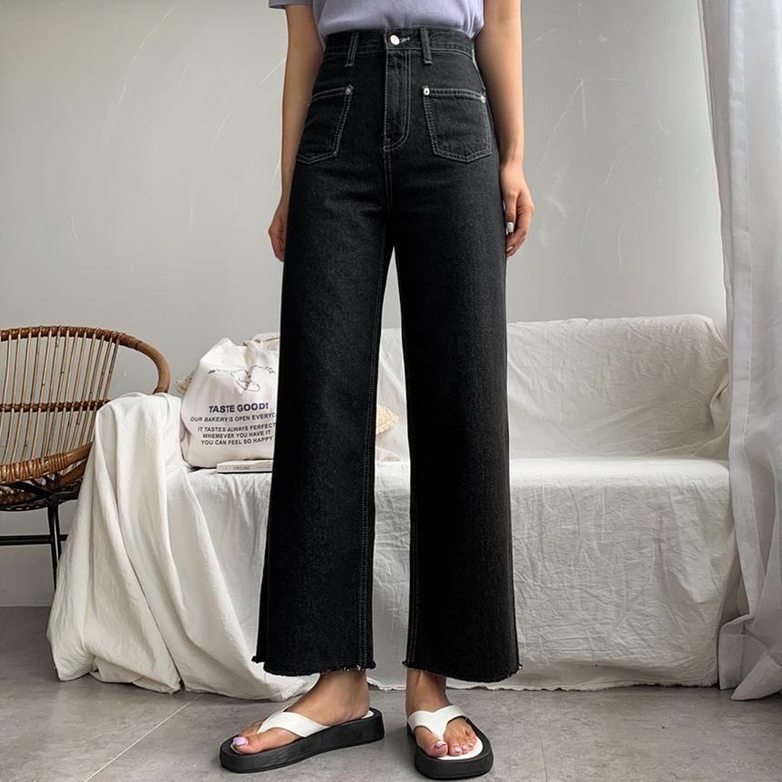 envylook-포켓스티치와이드♡韓國女裝褲