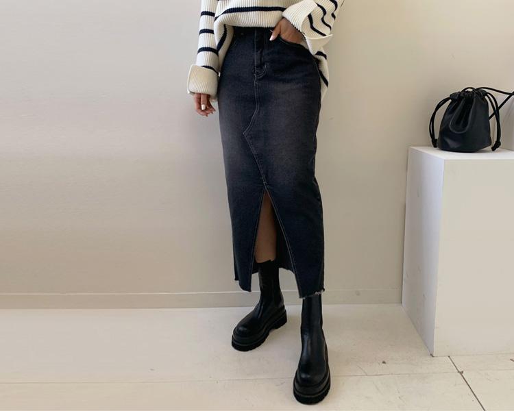 tomnrabbit-[블랙진스커트]♡韓國女裝裙