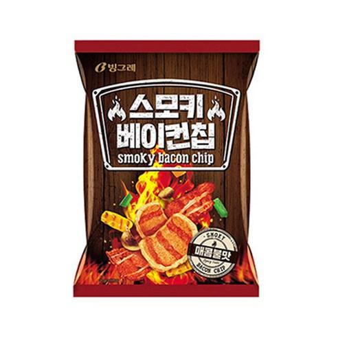 韓國 CROWN 香辣烤烟肉味薯片 一包/70g