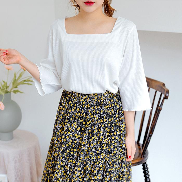 09women-[언덜리어 스퀘어넥 티셔츠 50375]♡韓國女裝上衣