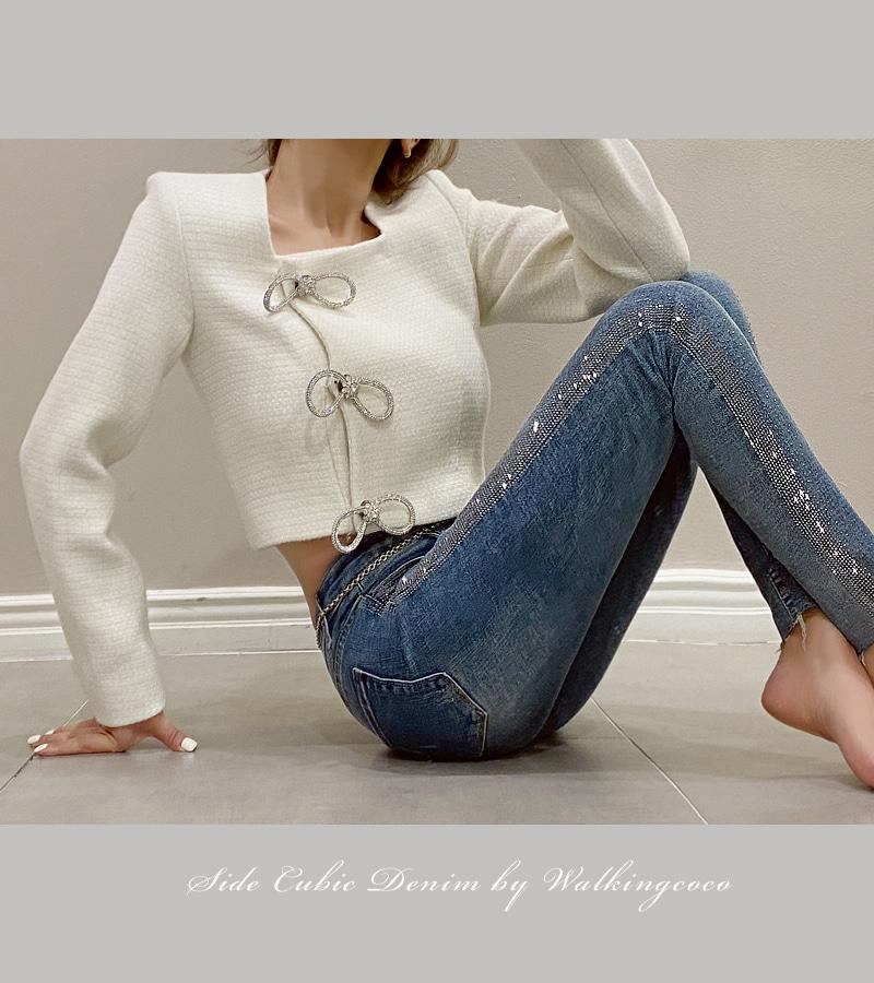 walkingcoco-side cubic denim pants♡韓國女裝褲