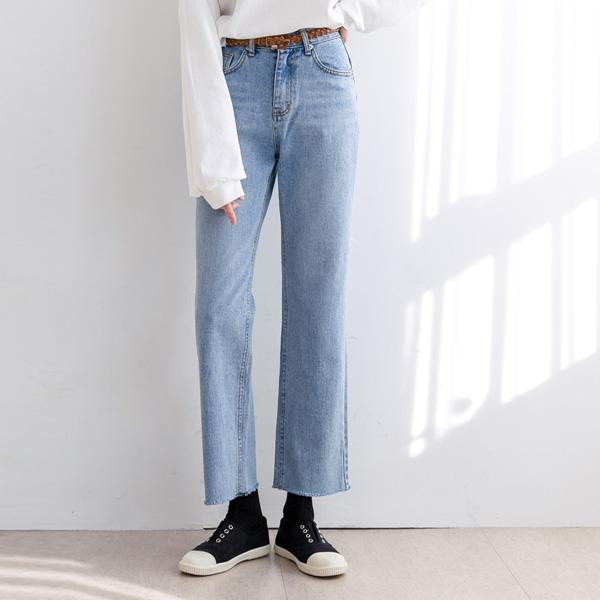 misscandy-[no.19943 스타일리시 세미와이드핏 데님팬츠]♡韓國女裝褲
