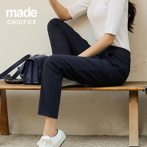 chicfox-데일리세미핏 밴딩슬랙스♡韓國女裝褲