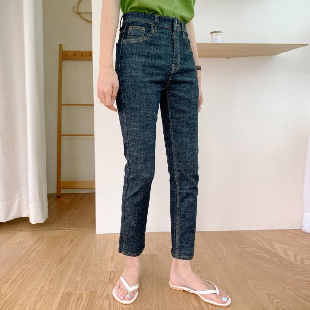 banharu-반하루[슬릿 생지데님 세미스키니진]♡韓國女裝褲