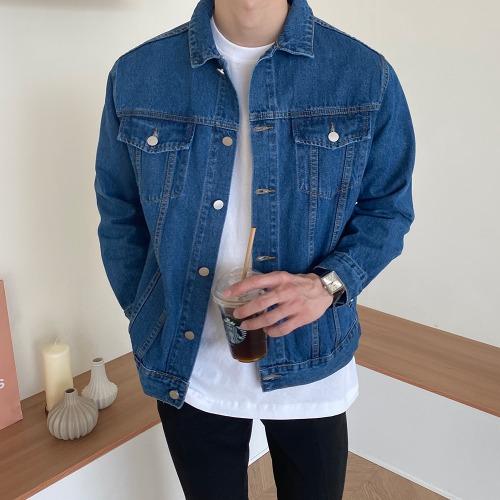modernsweet-스탠다드 데님 트러커 자켓 2color - 모던스윗(modernsweet)♡韓國男裝外套