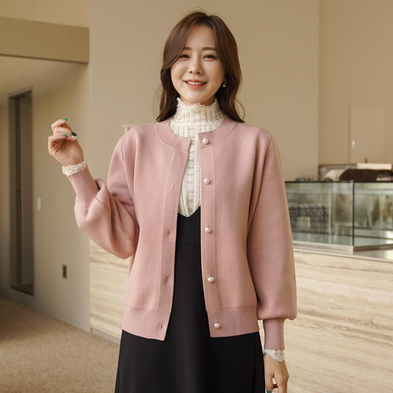clicknfunny-[러렌진주 비스코스가디건]♡韓國女裝外套