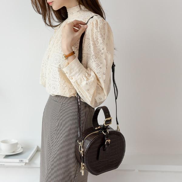 misscandy-[no.19384 뱀피무늬 라운딩 토트&숄더백]♡韓國女裝袋