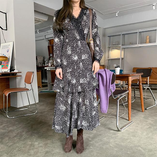 cherryville-[우아한캉캉 플라워원피스]♡韓國女裝連身裙