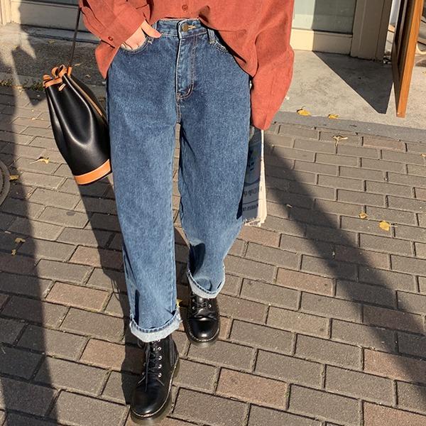 66girls-베베루즈데님P (기모)♡韓國女裝褲