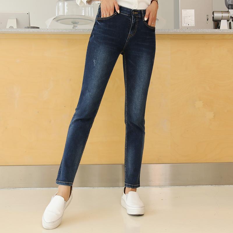 clicknfunny-[딥컬러 슬림일자 데님팬츠[S,M,L사이즈]]♡韓國女裝褲