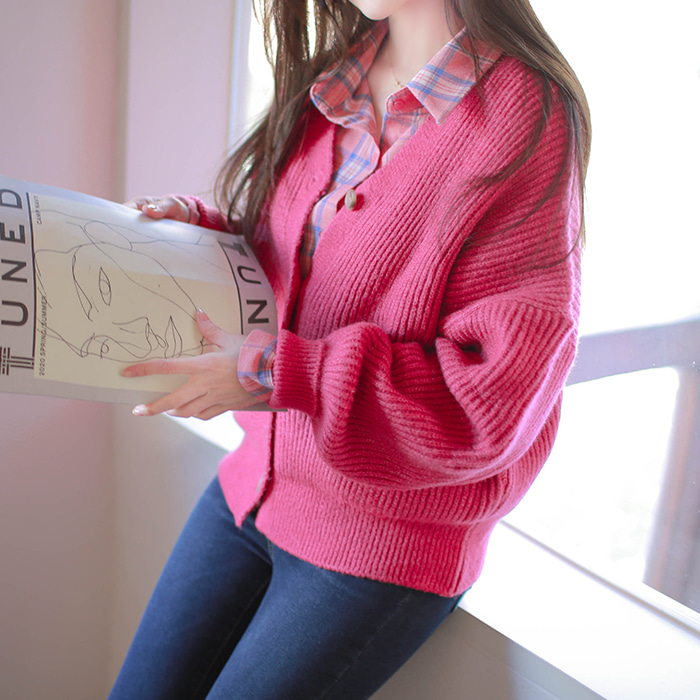 myfiona-시어링 포버튼 니트가디건 a1171 - 러블리 로맨틱룩 1위 쇼핑몰 피오나♡韓國女裝外套