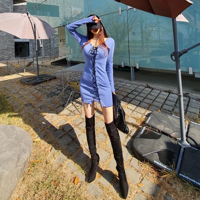 iampretty-[[4472]페미닌 코르셋 슬림원피스]♡韓國女裝連身裙