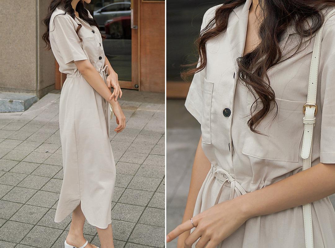 氣質襯衫連身裙