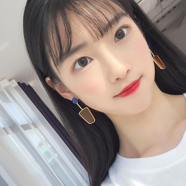 soo-soo-[캔디젤리 투컬러드롭귀걸이 (19E457) [4color]]♡韓國女裝飾品