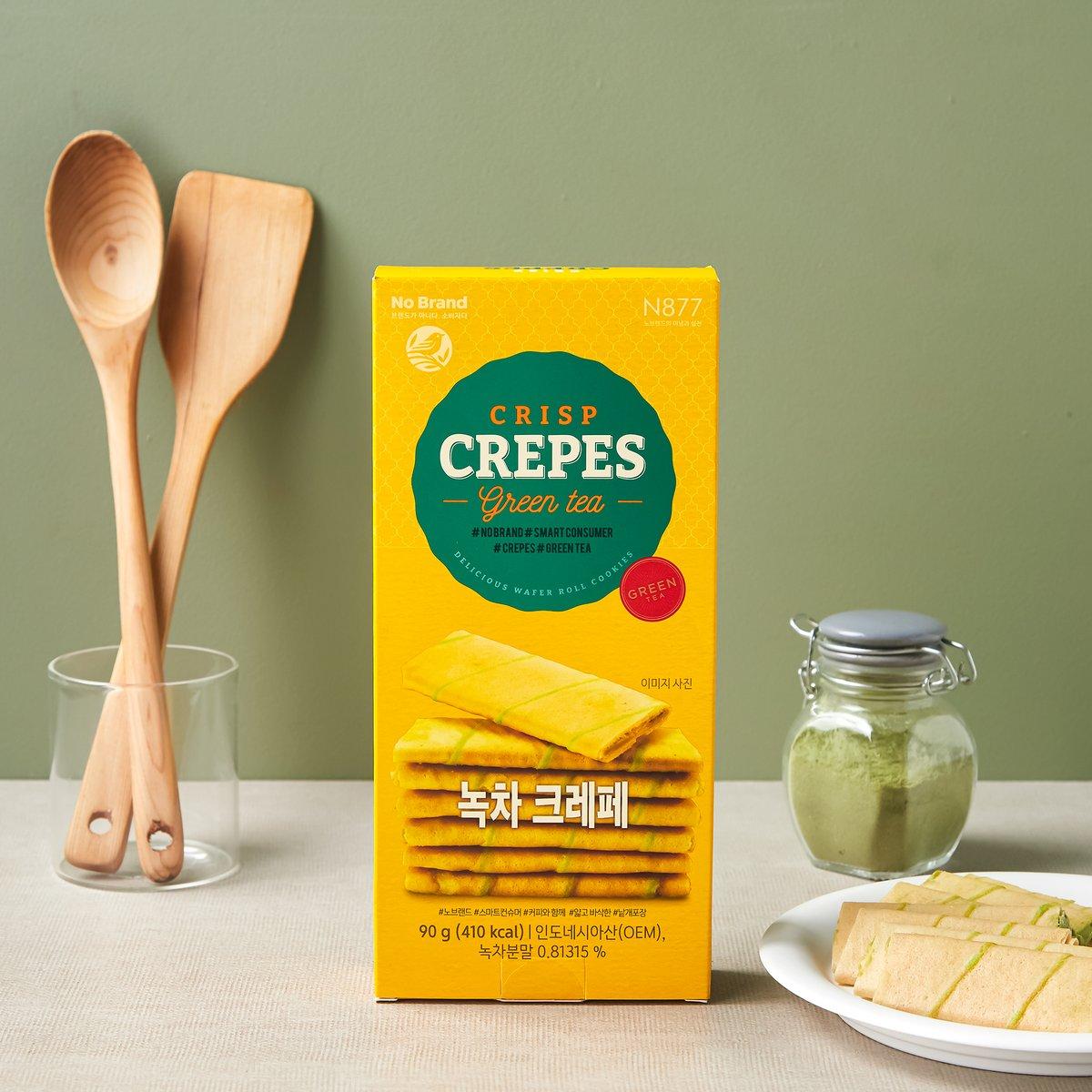 No Brand Crisp Crepe 綠茶薄脆 90g