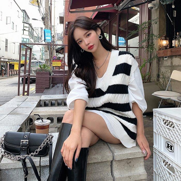 choper-톰단가라니트조끼♡韓國女裝上衣