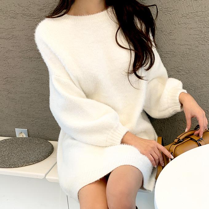 wingsmall-메일리(부들이롱니트&원피스)♡韓國女裝連身裙