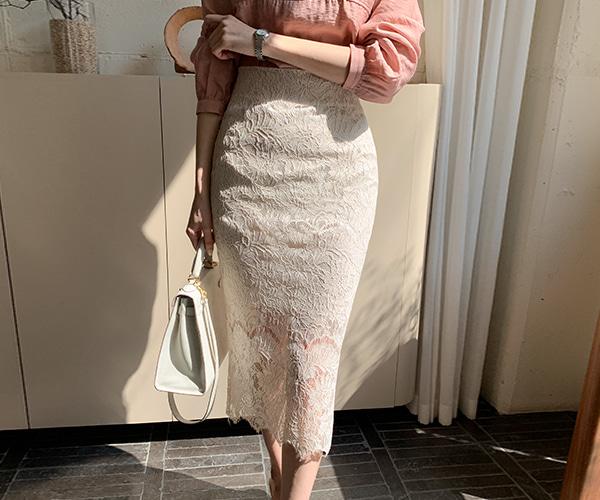 reine-포밍슬릿레이스스커트 (3colors) new10%♡韓國女裝裙